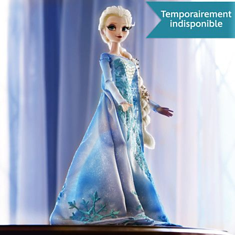 Poup e en dition limit e elsa de la reine des neiges - Barbie reine des neiges ...