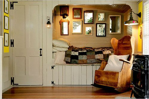 Alcove beds are a fabulous concept for saving space in your home design. They are inviting and fun and creates a very intimate space to curl...