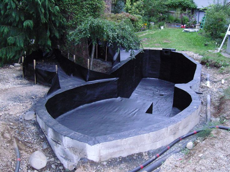 324 best ideas about project pond on pinterest garden for Concrete koi pond design