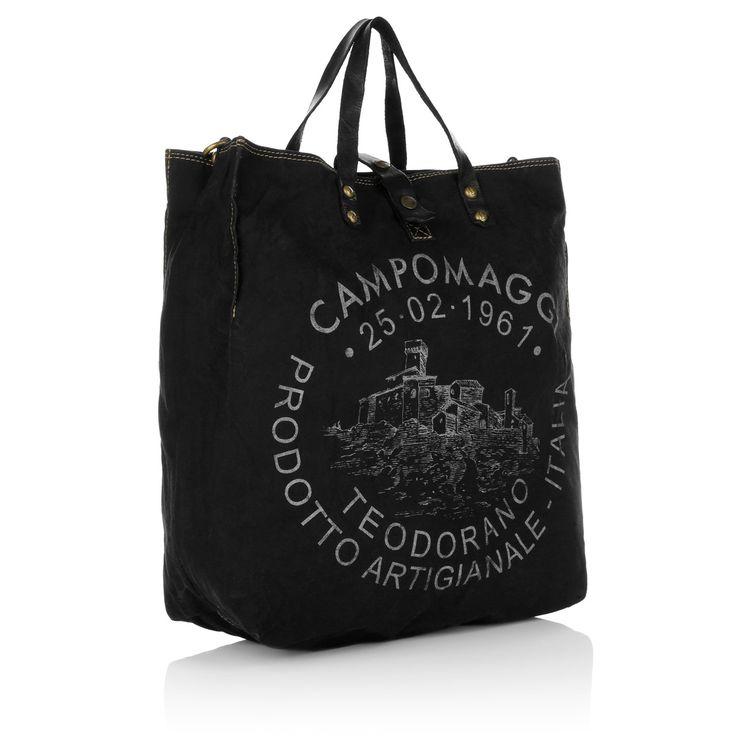Campomaggi Shopping C/Stampa Tessuto Nero St. Argento Elle bei Fashionette