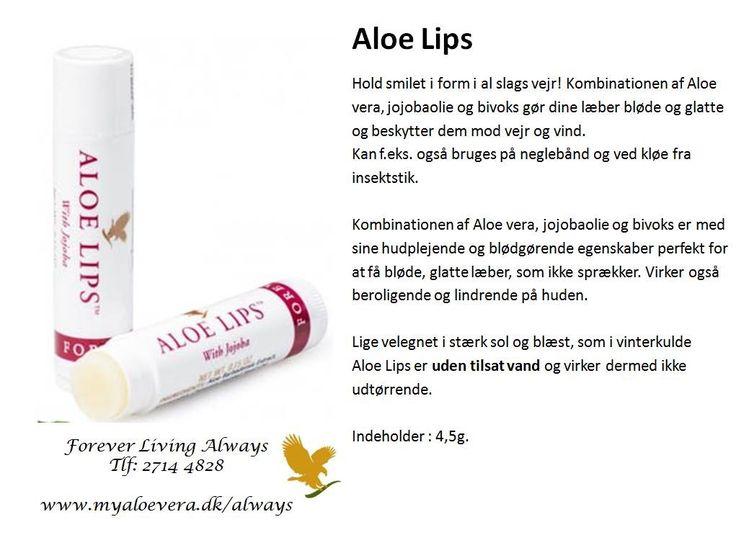 🌱aloe lips 👄 🌱 Mere info ring 2714 4828 www.myaloevera.dk/always fb: Hedehusene forever Living forhandler