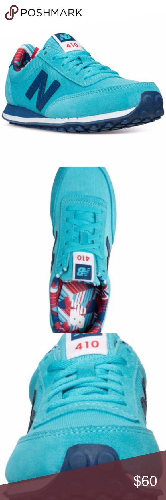NIB New Balance Women's 410 Sneakers / Size 6 New Balance Women's 410 Hawaiian Casual Sneakers from Finish Line / Color TEAL/ATLANTIC / US Women Size 6 New Balance Shoes Sneakers