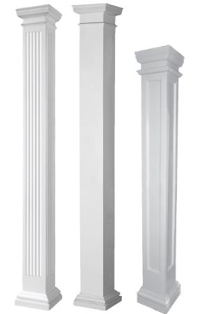 Our fiberglass columns are maintenance free, attractive and affordable. Browse our fiberglass columns or use our 3 step column builder to design your own.