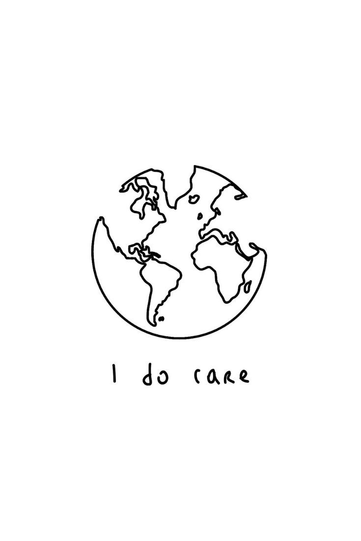 99eb2d01 I do Care - World | One Line Illustration | Minimalist Graphic Design in  Mihoki's RedBubble shop: Minimalist T-Shirt, Stickers, Home Decoration and  much ...