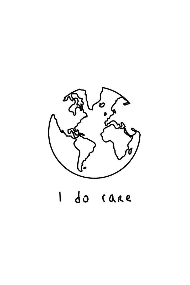 'I Do Care – Earth – Minimalist' T-Shirt by Mihoki