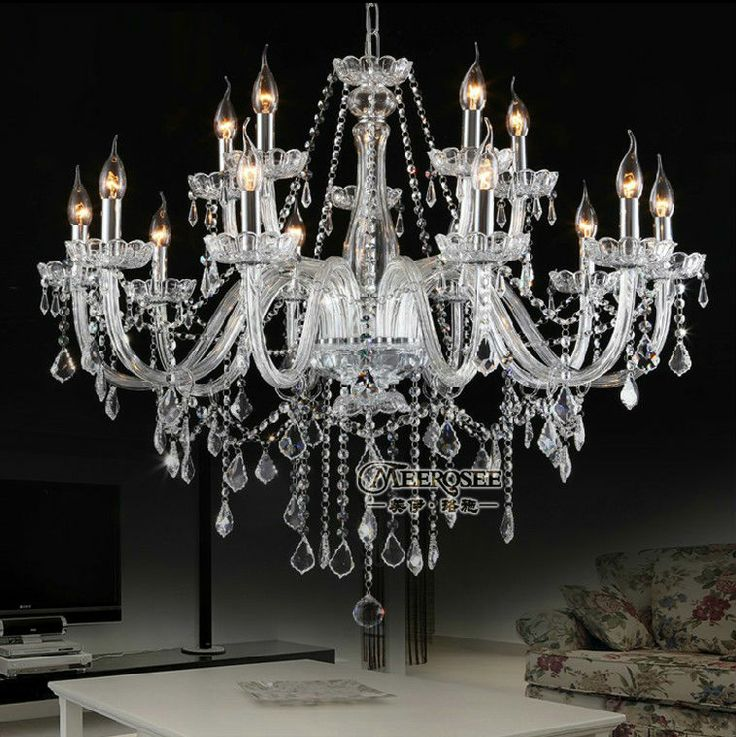79 best crystal chandelier lamp fixtrues images on pinterest large clear crystal chandelier lamp classic crystal chandelier pendant lamp fixture 59800 aloadofball Image collections