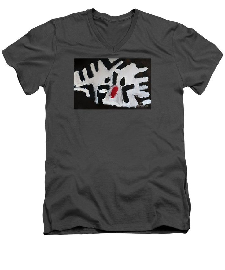 Patrick Francis V-Neck T-Shirt featuring the painting White Tiger 2014 by Patrick Francis