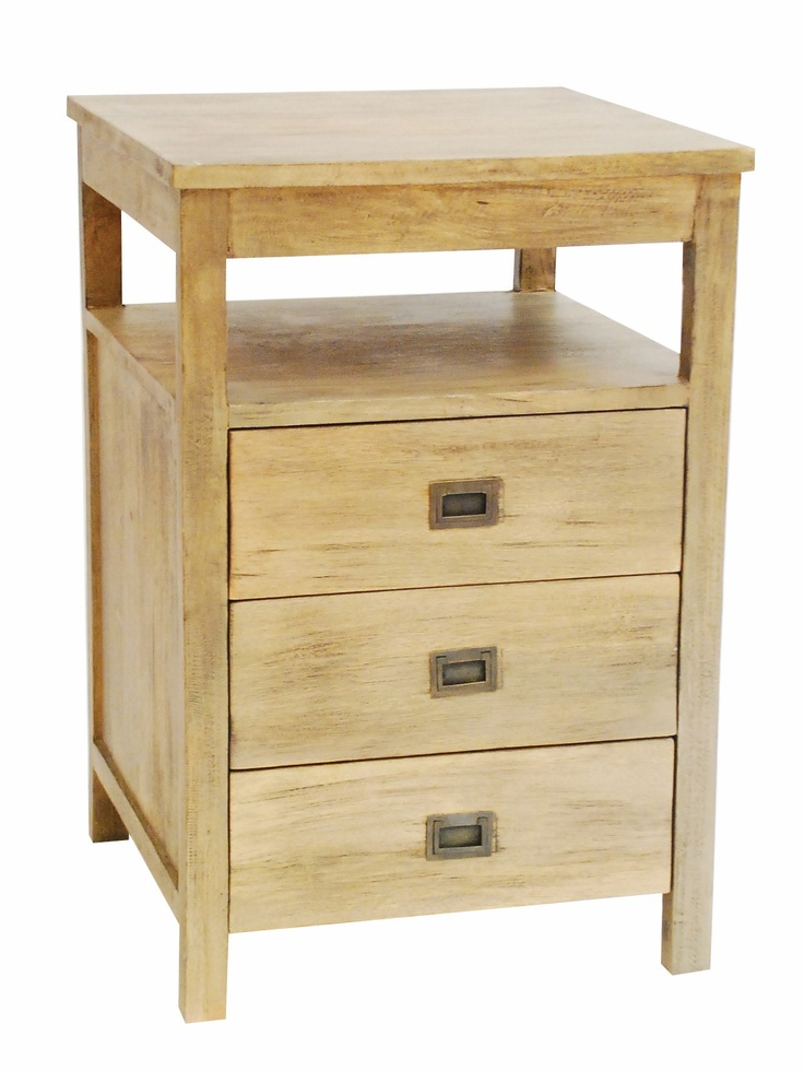 Kalbarri Bedside Table The Kalbarri bedside table solidly made in mango  wood with a light natural