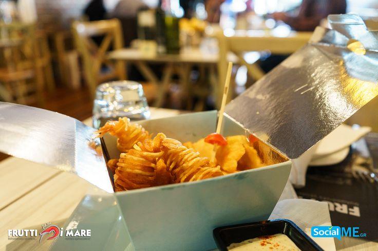 Γαρίδες Τυλιχτές με σπαγγέτι πατάτας σε Take Away..!! #FruttiDiMare #SeaFood #Restaurant #Thessaloniki