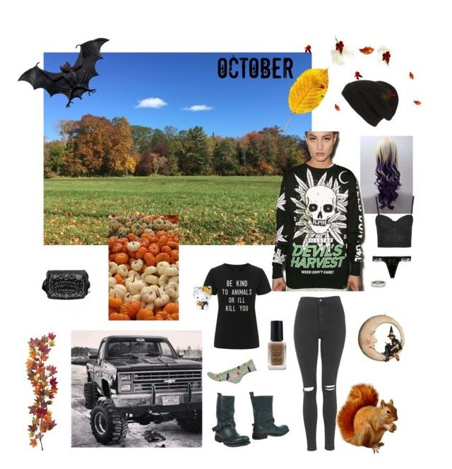 """BOO"" by blueeyedbeanie ❤ liked on Polyvore featuring Phase 3, Topshop, Kill Star, Nearly Natural, Rare London, Swarovski, Bethany Lowe, La Perla and Barry M"