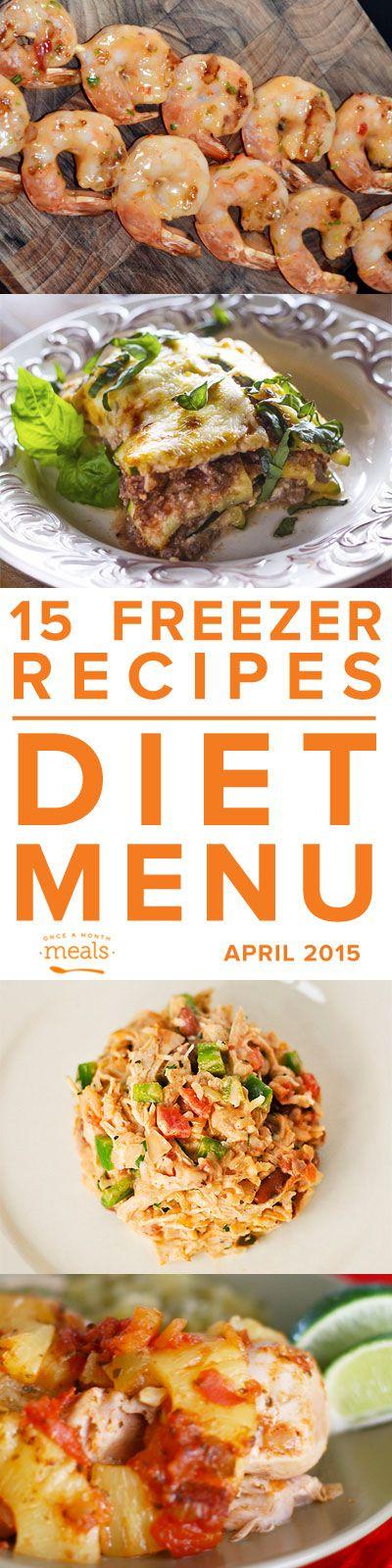 Diet April Freezer Menu 2015 – Trim Healthy Mama Compliant | Once A Month Meals | OAMC | Freezer Cooking | Freezer Meals  | Custom Menus | Menu Planning