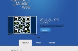 A showcase for a company offering mobile websites