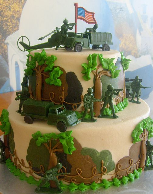 Military Cake - SO CUTE for when the troops come back home!