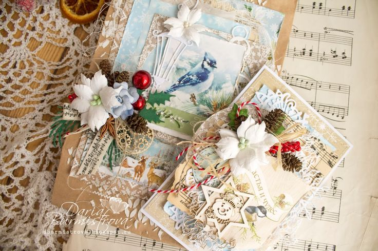 ScrapBerry's: Christmas handmade cards by Daria Burmistrov with A Taste of Winter collection