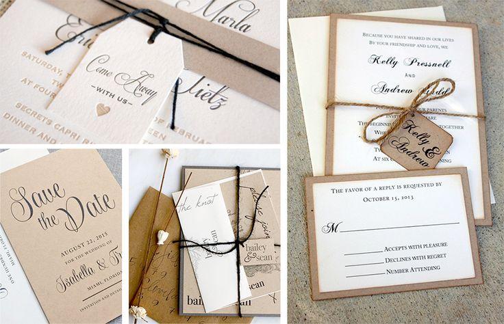 Er du til Vintage stilen så er de her rigtige fine bud til at lade sig inspirere af. Enkelheden i en bryllupsinvitation er altid vigtig. De kan hurtigt blive for overpyntet. Se flere invitationer h...