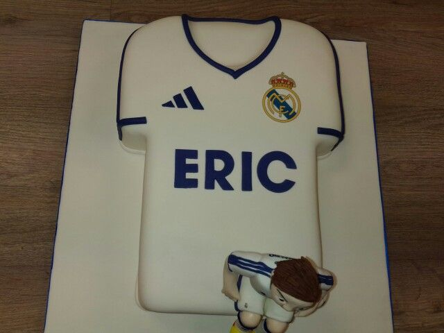 Tarta camiseta Real Madrid. Horneando Ideas.
