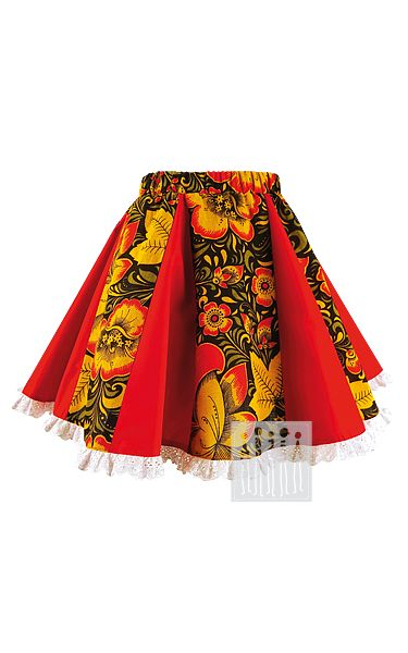 Хохлома юбка шестиклинка