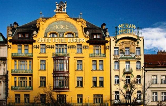 Grand hotel Evropa na Václavském náměstí.