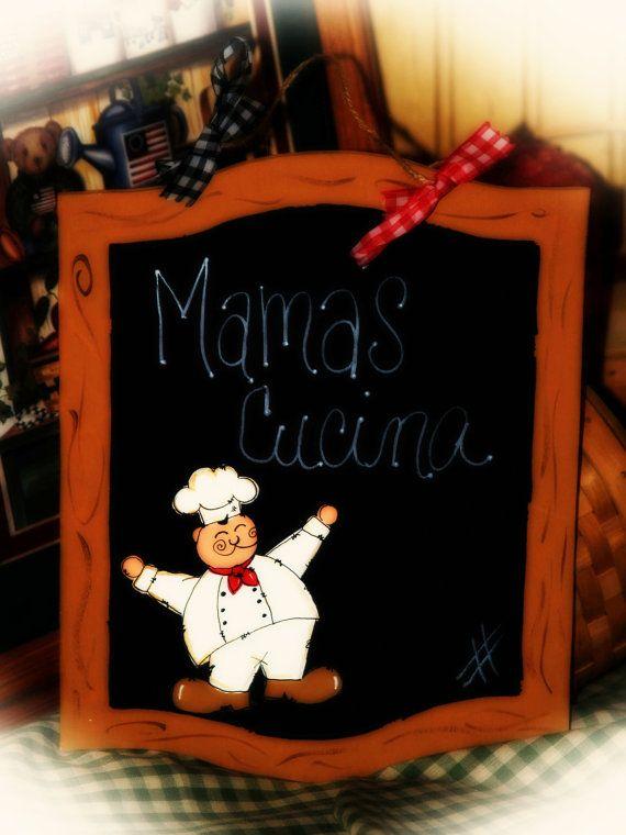 Fat Chef Personalized Cucina Chalkboard Bistro Kitchen Decor Sign