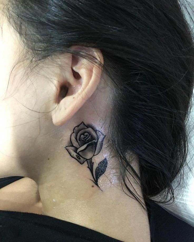 Word Tattoo Girls Meaningfulwordtattoogirls Neck Tattoo Small Rose Tattoo Meaningful Tattoos For Girls