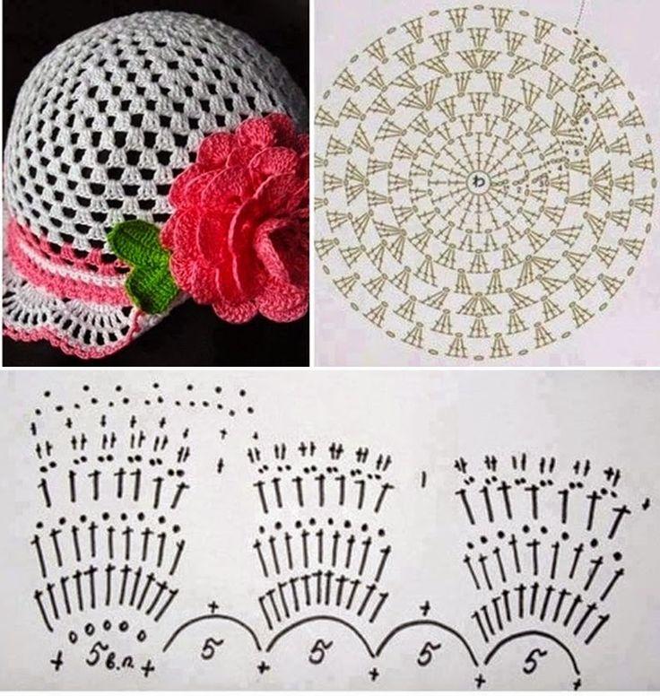 Mejores 20 imágenes de horgolt kalap en Pinterest | Sombreros de ...