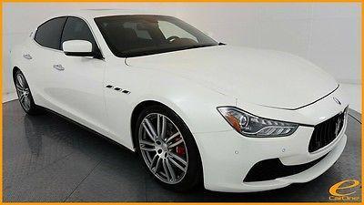 2015 Maserati Ghibli | S Q4 | 20IN SPORT | LUXURY | PREMIUM | ALCANTARA Maserati Ghibli Bianco Alpi Pearlescent (Pearl) with 15,185 Miles, for sale!