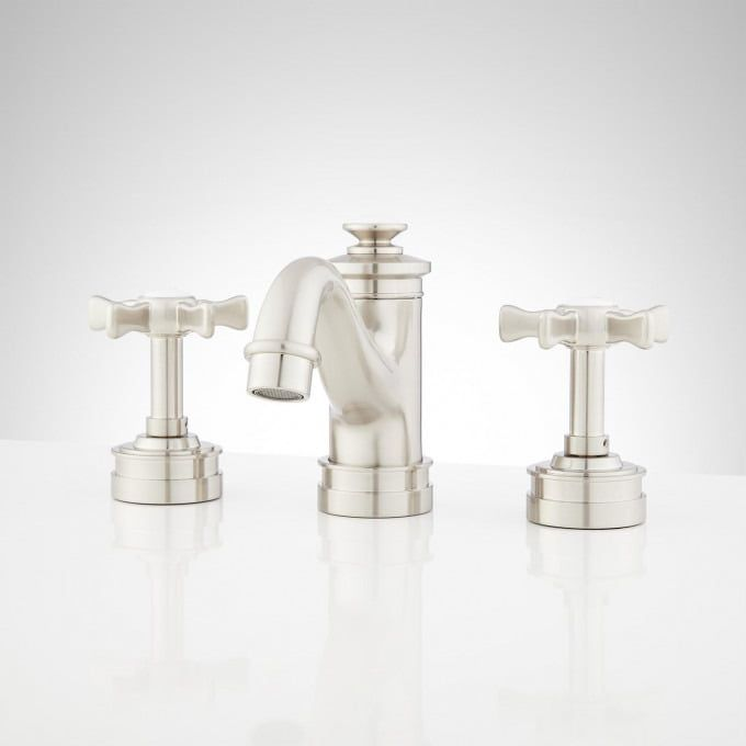 Mellwood Widespread Bathroom Faucet With Cross Handles Brushed