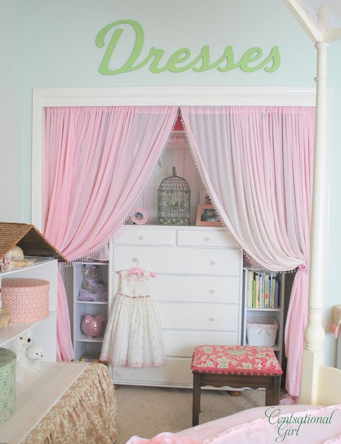a glammy, girly closet, the envy of girls small and big by Centsational Girl
