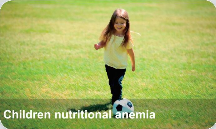 Pediatric Diseases-Children Nutritional Anemia, Children nutritional anemia is a common disease in infants, which refers to types of anemia that can be directly attributed to nutritional disorders. The nutritional anemia is cause by the lack of iron necessary for hematopoiesis. Children with anemia for a long-term usually display the symptom of poor physical development, microsomia, not interested in playing, easily tired, etc.