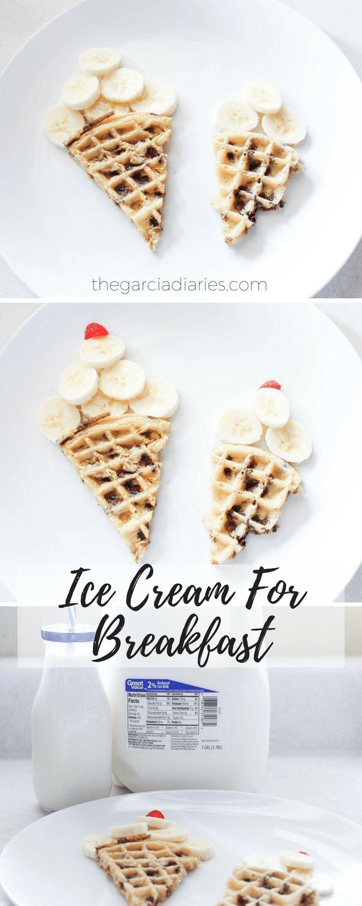 Ice Cream For Breakfast - Easy Food Art For Breakfast - Kids