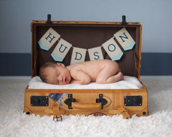Custom Baby Name Banner  Newborn Photo Shoot Prop by liddabits, $12.99