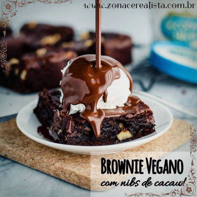 brownie, brownie vegano, brownie vegano cm nibs de cacau, brownie com nibs de cacau, receita de brownie, receita de brownie vegano, nibs de cacau,