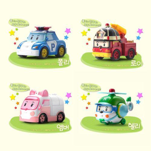 #Robocar #Poli #Amber #Roy #Helly 4pcs set Diecast #Korea TV #Animation #Character #Toy