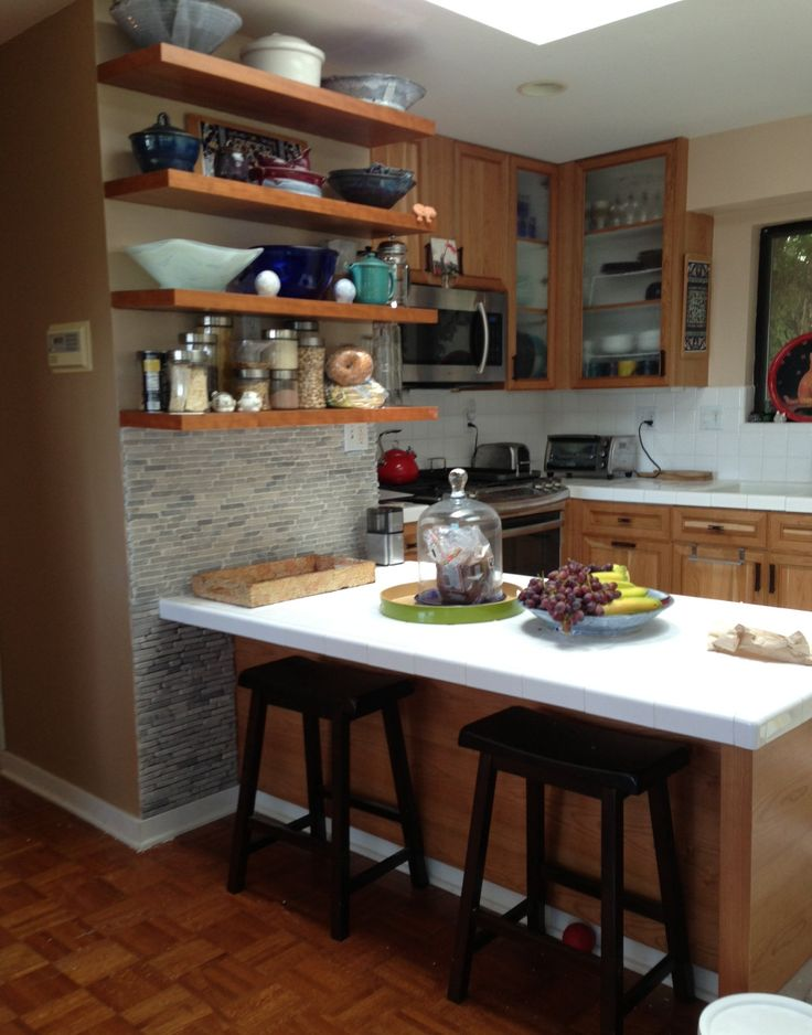 Good Large Light Grey Pencil Stone Tile Kitchen Feature Wall. Https://www.