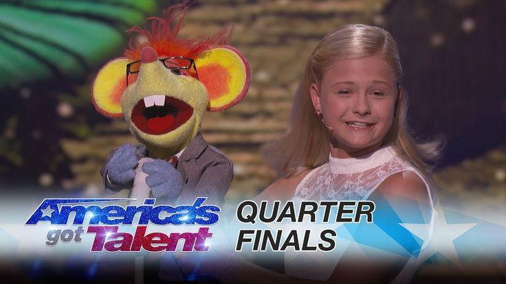 Darci Lynne: 12-Year-Old Ventriloquist Dedicates Song to Mel B - America's Got Talent 2017