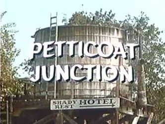 Petticoat Junction TV Show.   The Shady Rest motel is owned was Kate Bradley who runs it with her daughters Bobbie Jo, Billie Jo, and Betty Jo. She has a problem with her lazy Uncle Joe who always tries to make money for the motel or himself from numerous silly schemes. They travel to Sam Drucker's Store by the Cannonball an old time train run by Charlie Pratt with Floyd Smoot the conductor.
