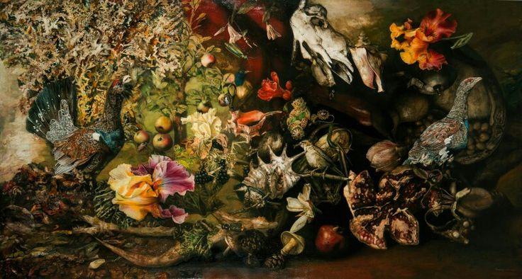 "Corvengi - ""Palabras de Amor"" - óleo, tela, 130 × 242 cm / ""Words of Love"" - oil on canvas 130 × 242 cm / ""Слова Любви"" - холст, масло, 130 × 242  www.aramikaelian.com  #art #арт #arte #arts #painting #pintura  #искусство #картина #картины #акварель #oil #watercolour #acuarela #acuarelas #oleo #canvas #draw #drawing #picture #paint #dibujo #dibujos #worldofartists #artoftheday #masterpiece #dailyart #творчество #рисунок #художник #blvart"
