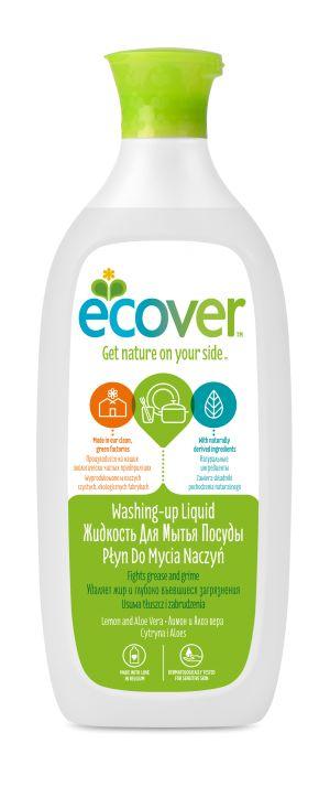Экологическая жидкость для мытья посуды с лимоном и алоэ вера - Ecover