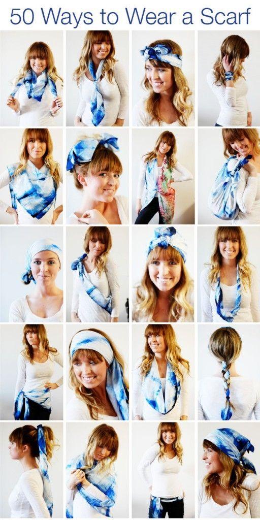 50 ways to wear a scarf repurposing clothing
