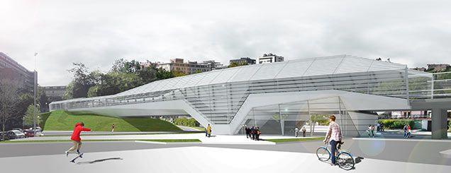 Aerial Railway Station-Bridge of Loyola in San Sebastián by ANTA / VAUMM / LAMELA / SUESLAN