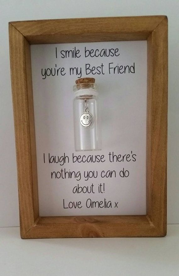 Humorous Personalised Gift For Friend Real Wood Frame Glass Vial Diy Birthday Ideas Best