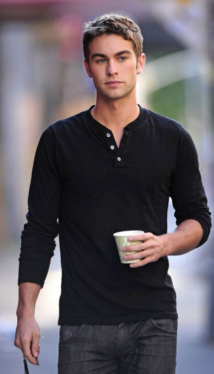 chace crawford just walking along looking perfect...