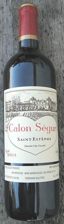 Château Calon-Ségur  (one of Johnny Depp's suggested wines)