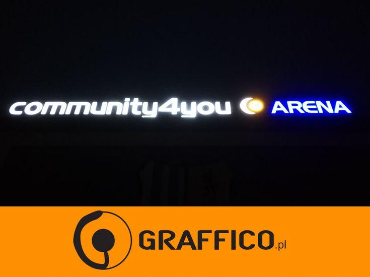 """Litery reklamowe, litery 3D, litery przestrzenne, litery podświetlane, litery wielkogabarytowe, litery na dachu, litery na elewacji, litery efekt """"halo"""", litery balck&white,  litery aluminiowe, neon, neony, producent reklam świetlnych, reklamy świetlne, producent liter 3D, producent liter podświetlanych, kasetony reklamowe, diody led, Graffico, illuminated letters, 3D letters, 3D signs, illuminated signage, signage manufacturer, block letters, black@white letters, 3D letters manufacturer"""