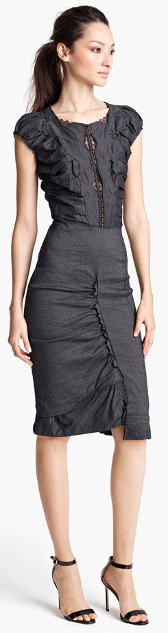 Nina Ricci Pin Dot Dress  Black Dress #2dayslook #sasssjane #BlackDress www.2dayslook.com