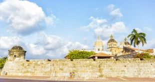 Cartagena is known as the walled city with its castles and fortifications.