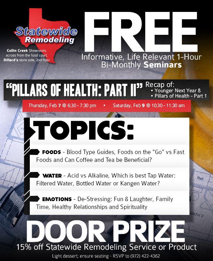 Pillars of Health Part 2