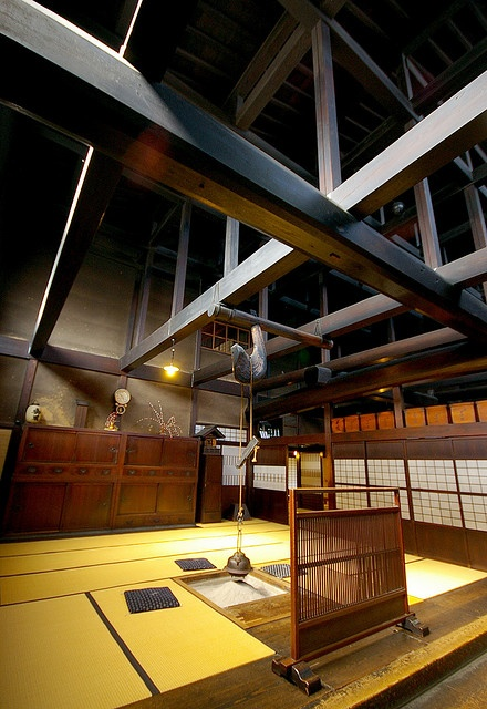 The wonderful wooden structure of Yoshijima house in Takayama. It seems that has been very influential in XX century architecture.#japan #gifu