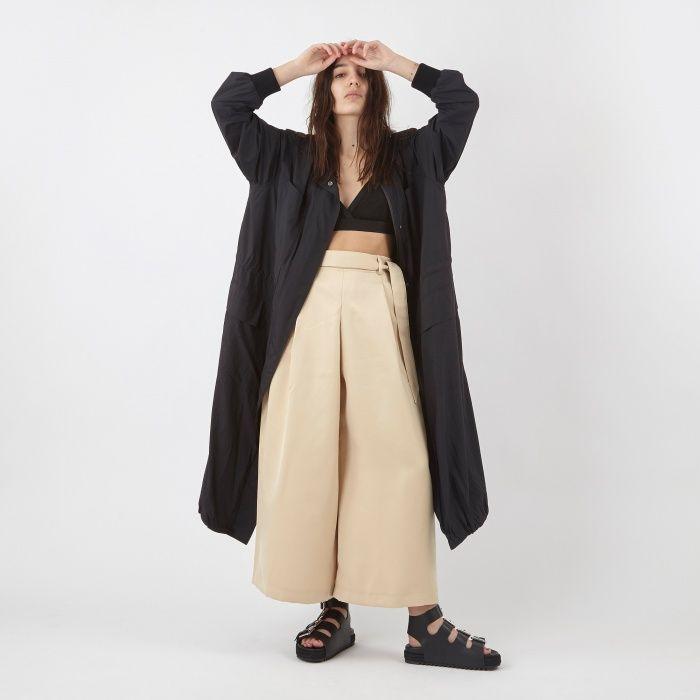 DKNY Long Bomber Parka Coat - Black (Image 1)