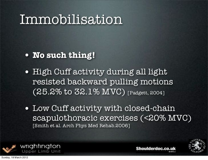 Immobilisation • No such thing!
